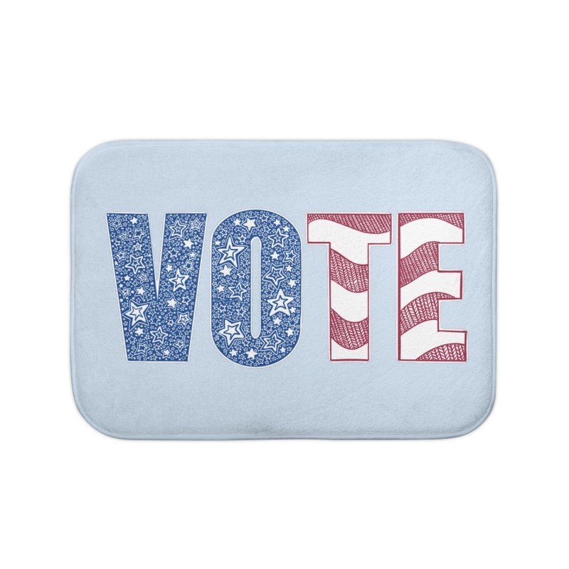 Vote! Home Bath Mat by Incredibly Average Online Store