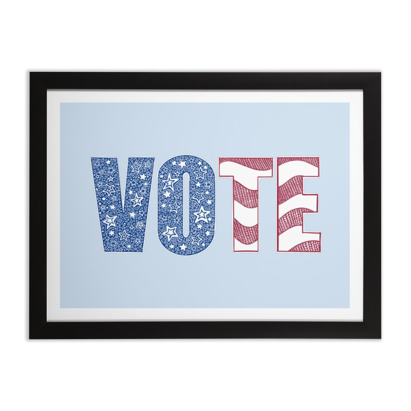 Vote! Home Framed Fine Art Print by Incredibly Average Online Store