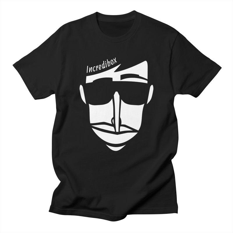 IMPRINT FACE in Men's Regular T-Shirt Black by INCREDIBOX SHOP