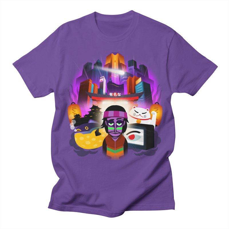 V6 ALIVE ARTWORK in Men's Regular T-Shirt Purple by INCREDIBOX SHOP