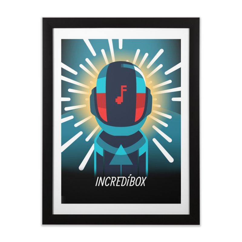 V4 IN DA SPACE in Framed Fine Art Print Black by INCREDIBOX SHOP