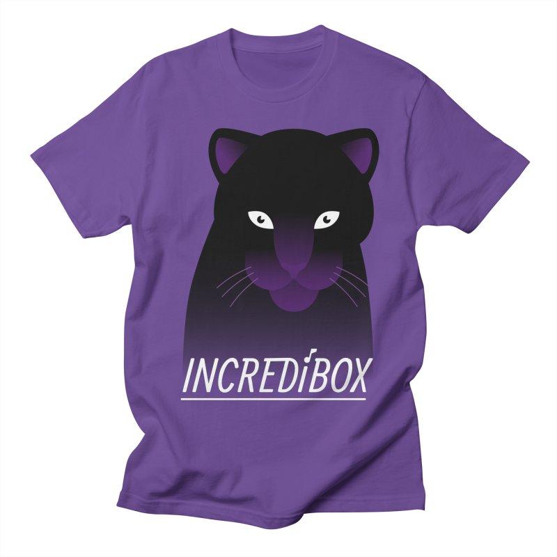 PURPLE PANTHER in Men's Regular T-Shirt Purple by INCREDIBOX SHOP