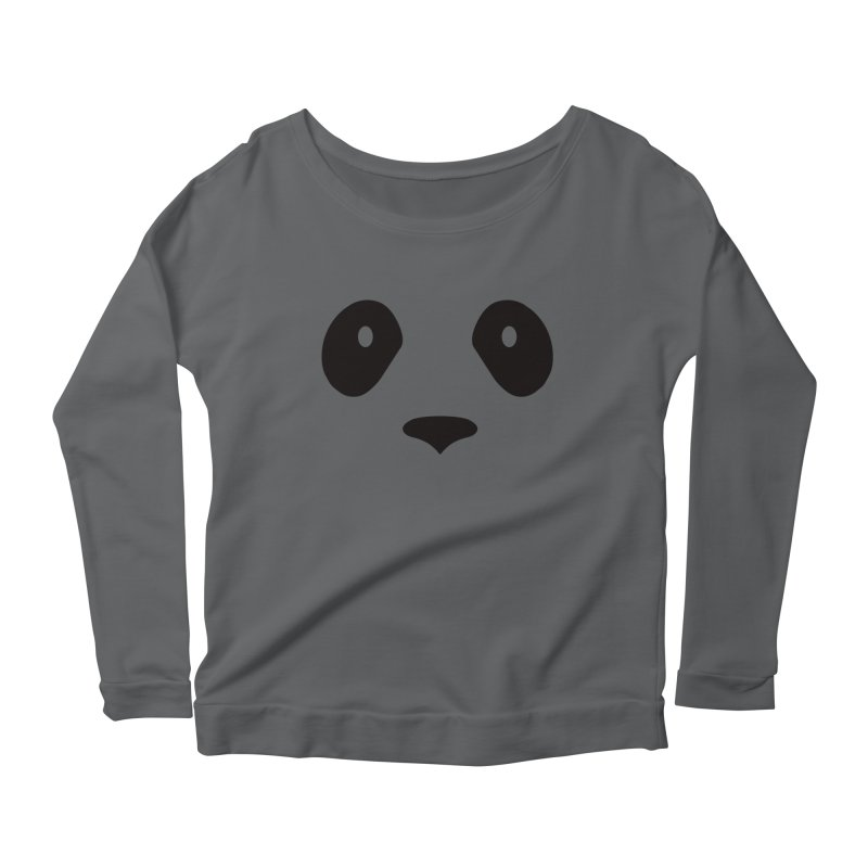 P-P-Panda! Women's Scoop Neck Longsleeve T-Shirt by independentink's Artist Shop