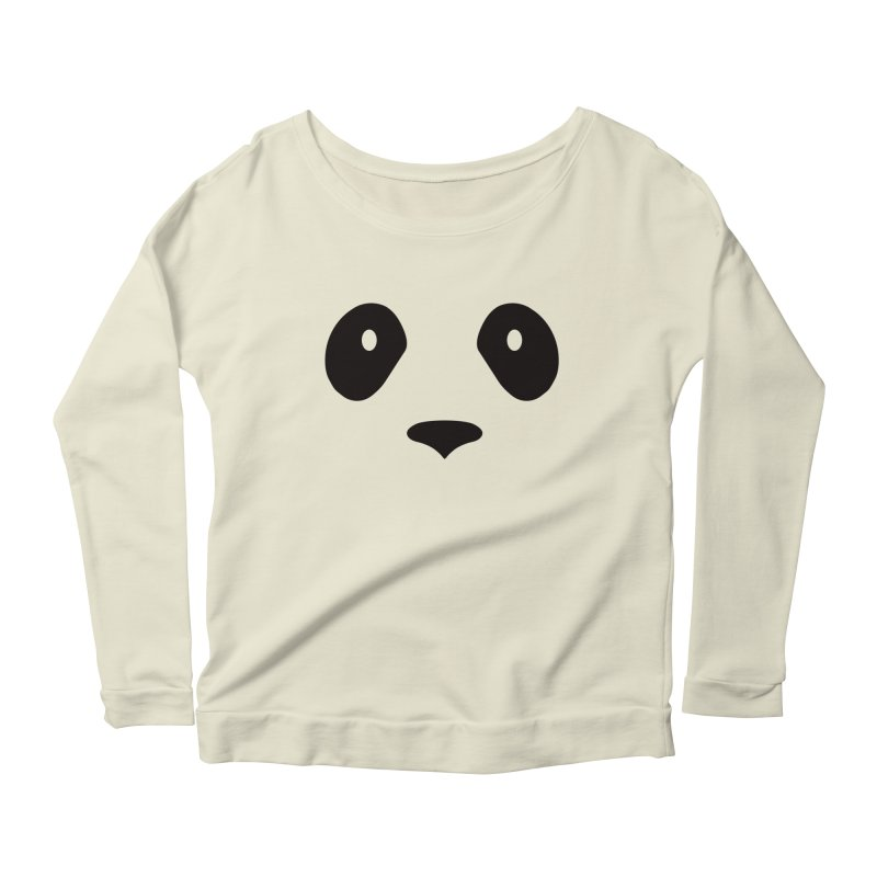 P-P-Panda! Women's Longsleeve Scoopneck  by independentink's Artist Shop