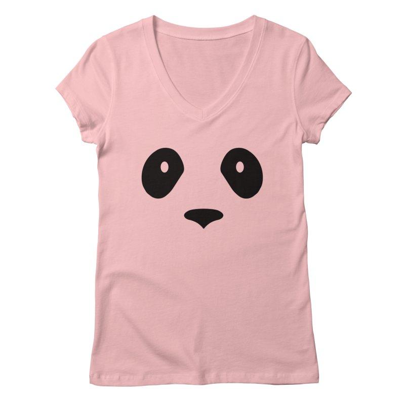 P-P-Panda! Women's Regular V-Neck by independentink's Artist Shop
