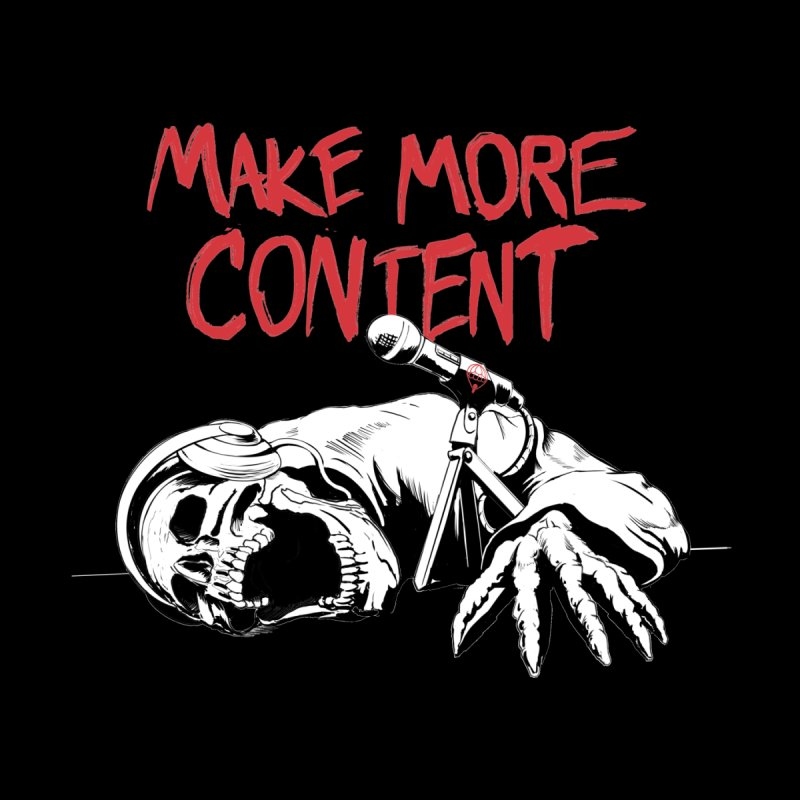 Make More Content - Red and White Men's T-Shirt by Indie Drop-In's Artist Shop