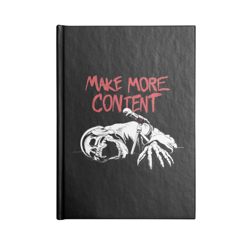 Make More Content - Red and White Accessories Notebook by Indie Drop-In's Artist Shop