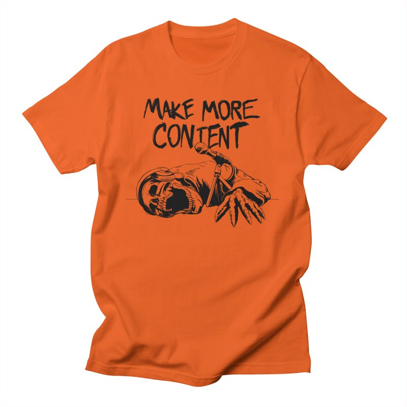 Make More Content - Black Men's T-Shirt by Indie Drop-In's Artist Shop