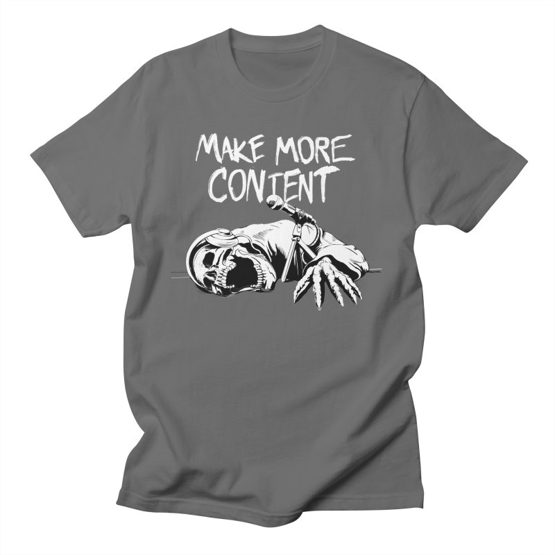 Make More Content - White Men's T-Shirt by Indie Drop-In's Artist Shop