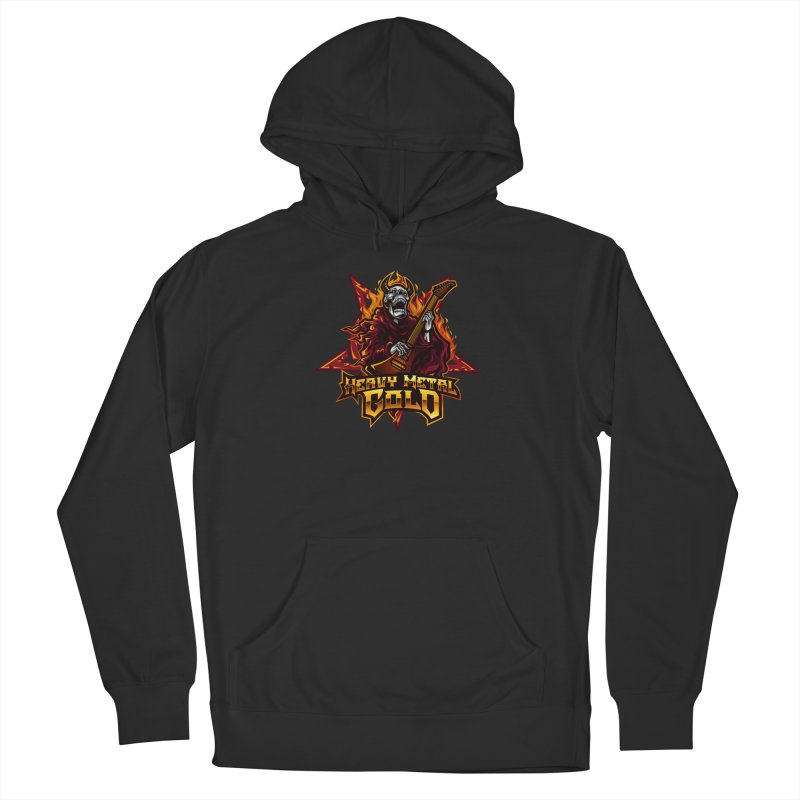 Heavy Metal Gold Men's Pullover Hoody by Indie Music Bus Stop and Shop