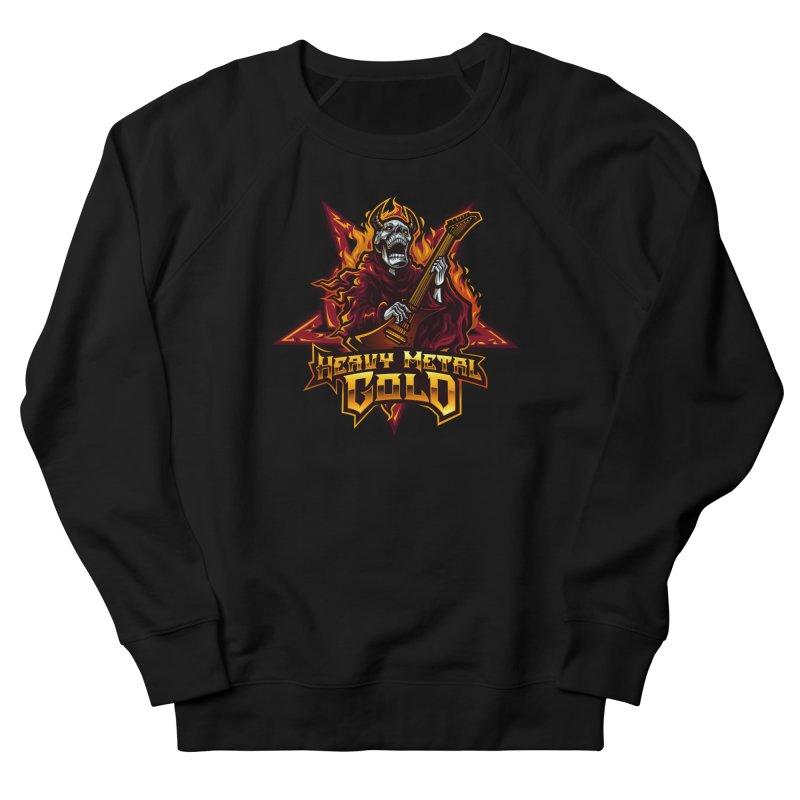 Heavy Metal Gold Men's Sweatshirt by Indie Music Bus Stop and Shop