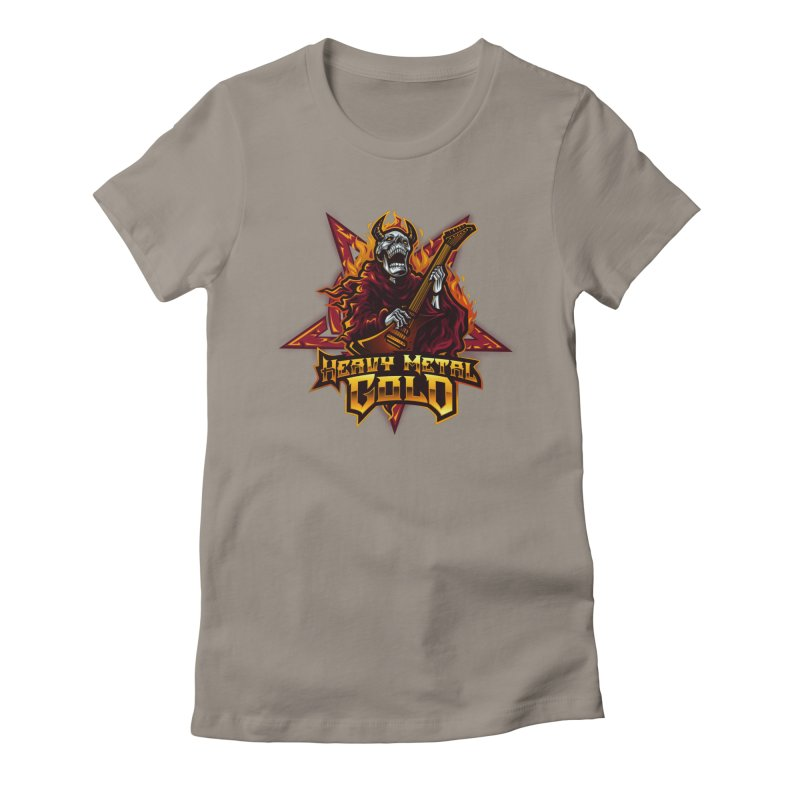 Heavy Metal Gold Women's T-Shirt by Indie Music Bus Stop and Shop