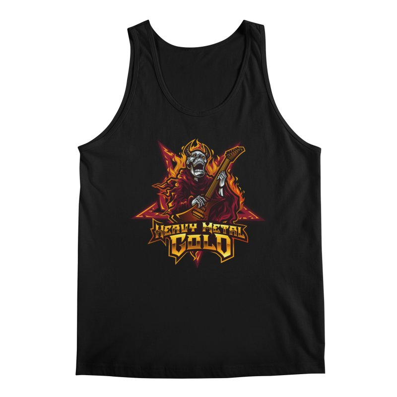Heavy Metal Gold Men's Tank by Indie Music Bus Stop and Shop