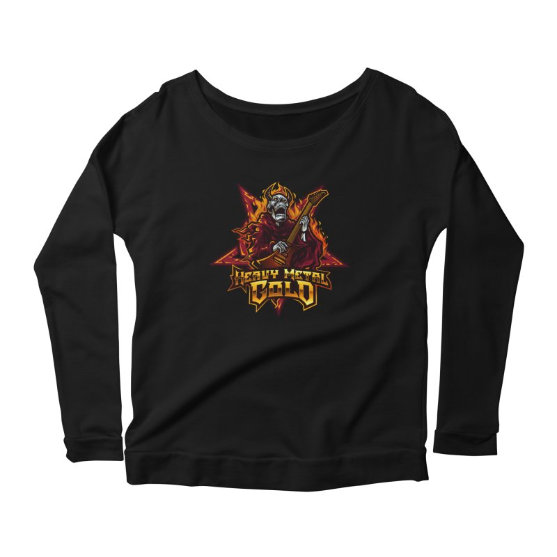 Heavy Metal Gold Women's Longsleeve T-Shirt by Indie Music Bus Stop and Shop