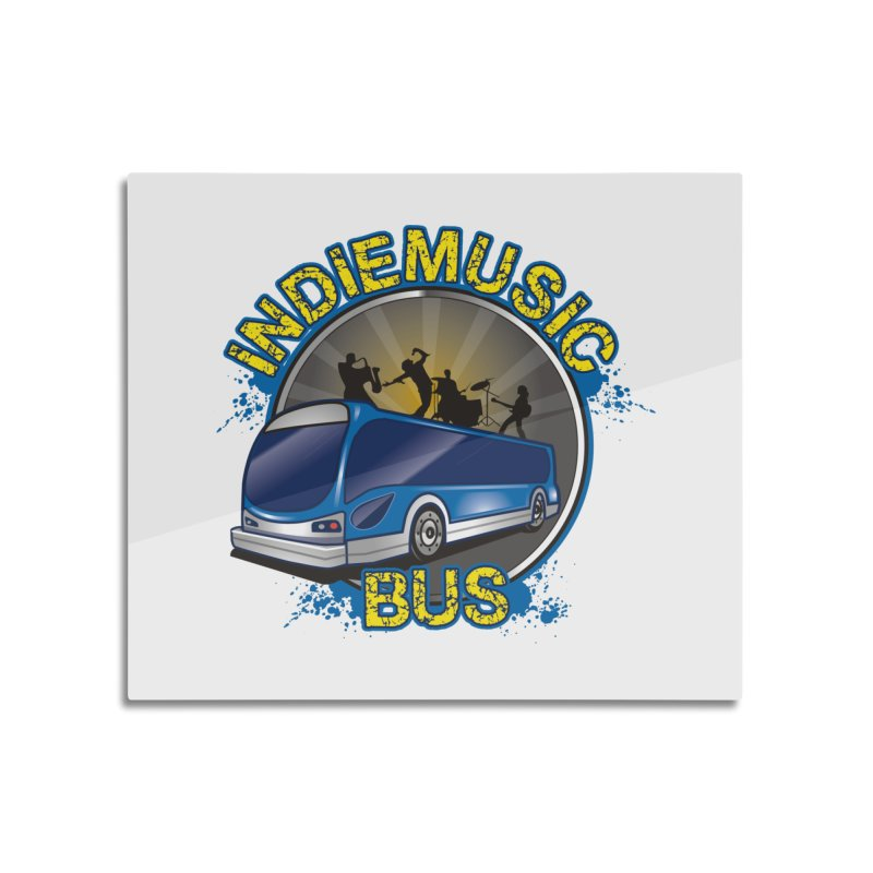 Indie Music Bus Logo Home Mounted Aluminum Print by Indie Music Bus Stop and Shop