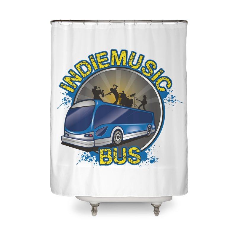 Indie Music Bus Logo Home Shower Curtain by Indie Music Bus Stop and Shop