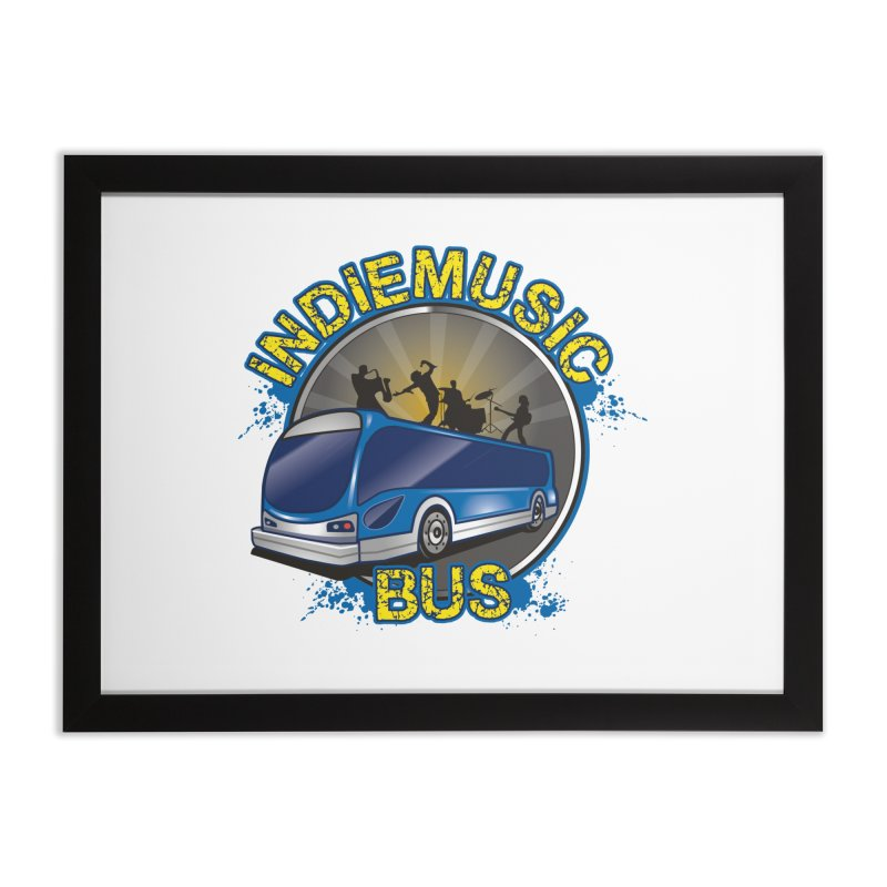 Indie Music Bus Logo Home Framed Fine Art Print by Indie Music Bus Stop and Shop