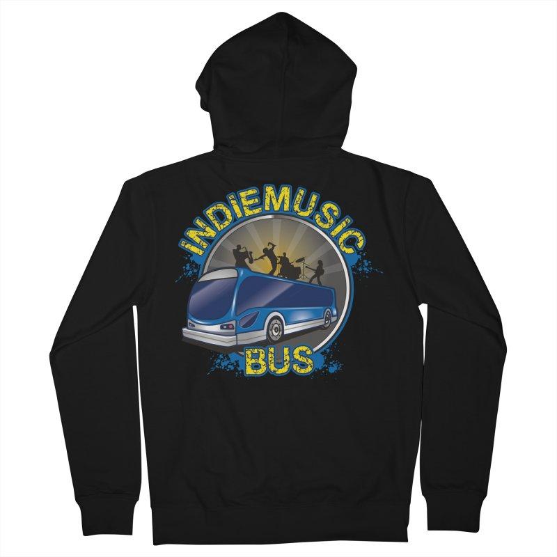 Indie Music Bus Logo Men's Zip-Up Hoody by Indie Music Bus Stop and Shop
