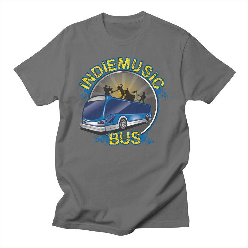 Indie Music Bus Logo Men's T-Shirt by Indie Music Bus Stop and Shop