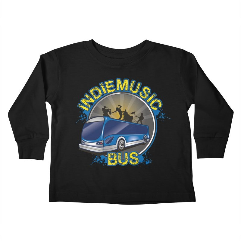 Indie Music Bus Logo Kids Toddler Longsleeve T-Shirt by Indie Music Bus Stop and Shop