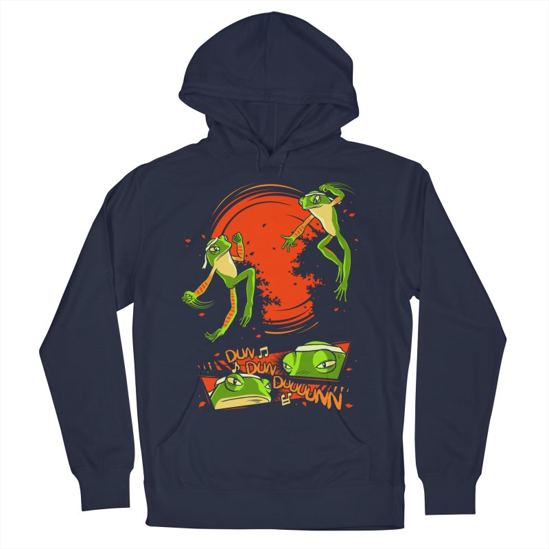 Peruvian Fighting Frogs Men's Pullover Hoody by indigo's Artist Shop