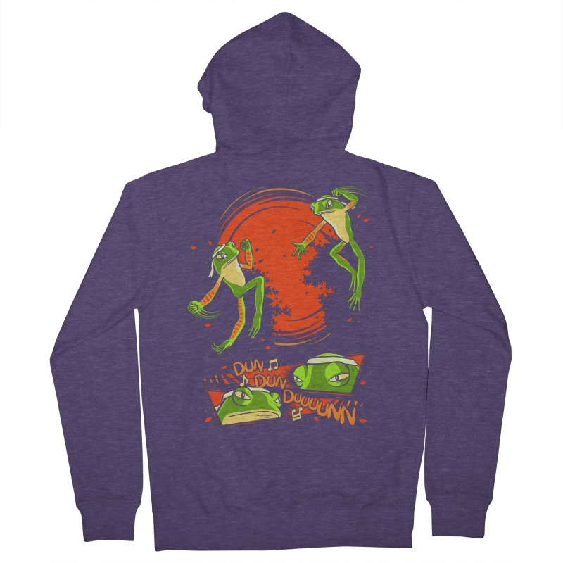 Peruvian Fighting Frogs Men's Zip-Up Hoody by indigo's Artist Shop