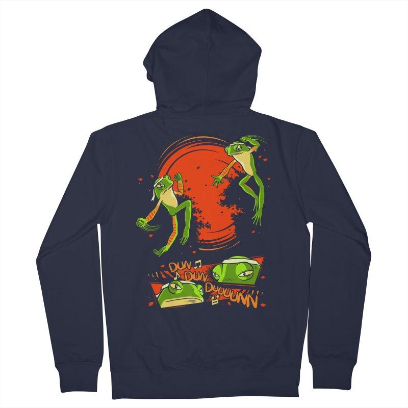 Peruvian Fighting Frogs Men's Zip-Up Hoody by indigo's Artist Shop