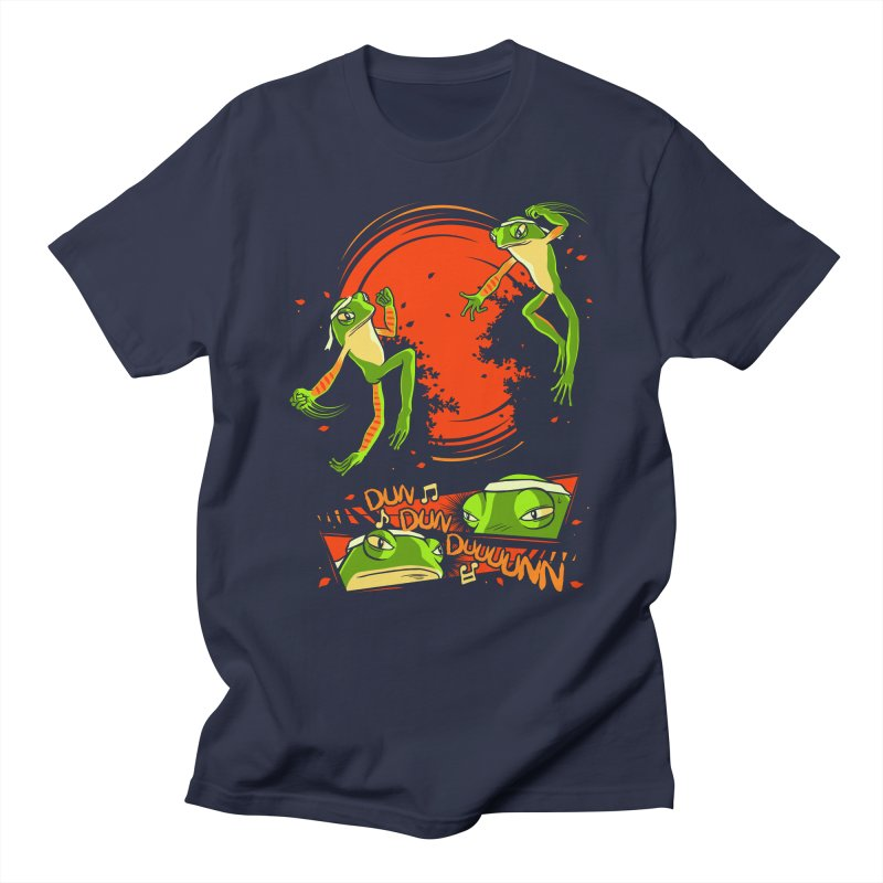 Peruvian Fighting Frogs Men's T-shirt by indigo's Artist Shop
