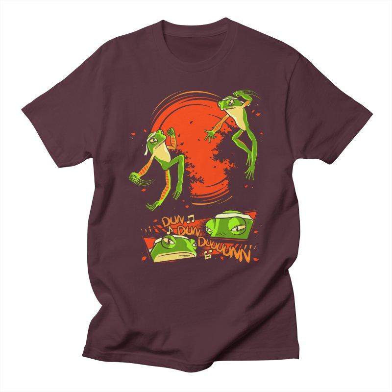 Peruvian Fighting Frogs Men's T-Shirt by indigo's Artist Shop