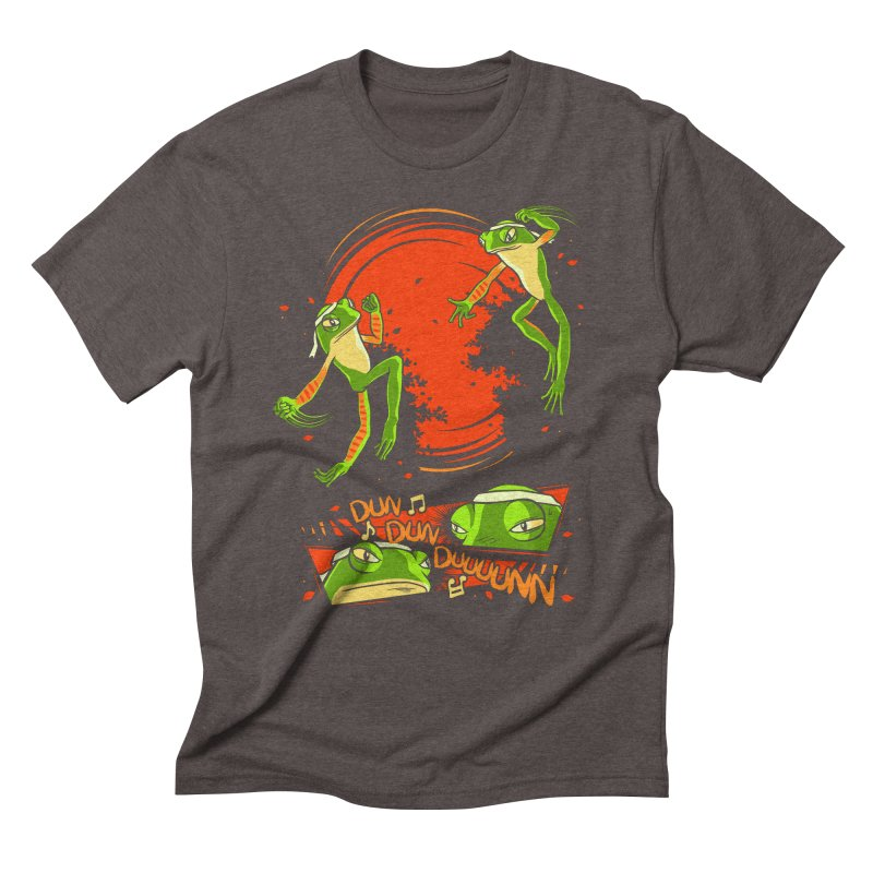 Peruvian Fighting Frogs Men's Triblend T-Shirt by indigo's Artist Shop