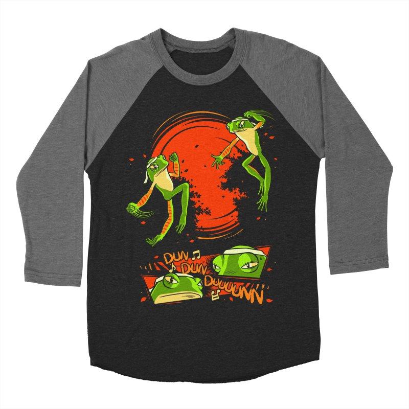 Peruvian Fighting Frogs Men's Baseball Triblend T-Shirt by indigo's Artist Shop