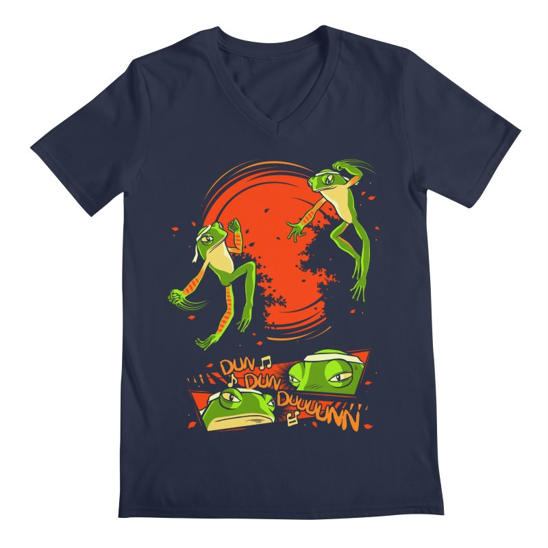Peruvian Fighting Frogs Men's V-Neck by indigo's Artist Shop