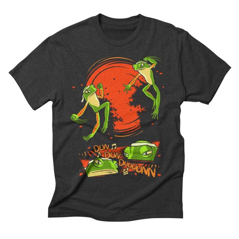 Peruvian Fighting Frogs Men's Triblend T-shirt by indigo's Artist Shop