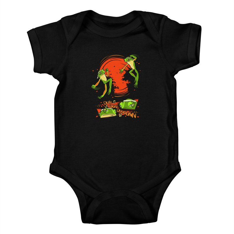 Peruvian Fighting Frogs Kids Baby Bodysuit by indigo's Artist Shop