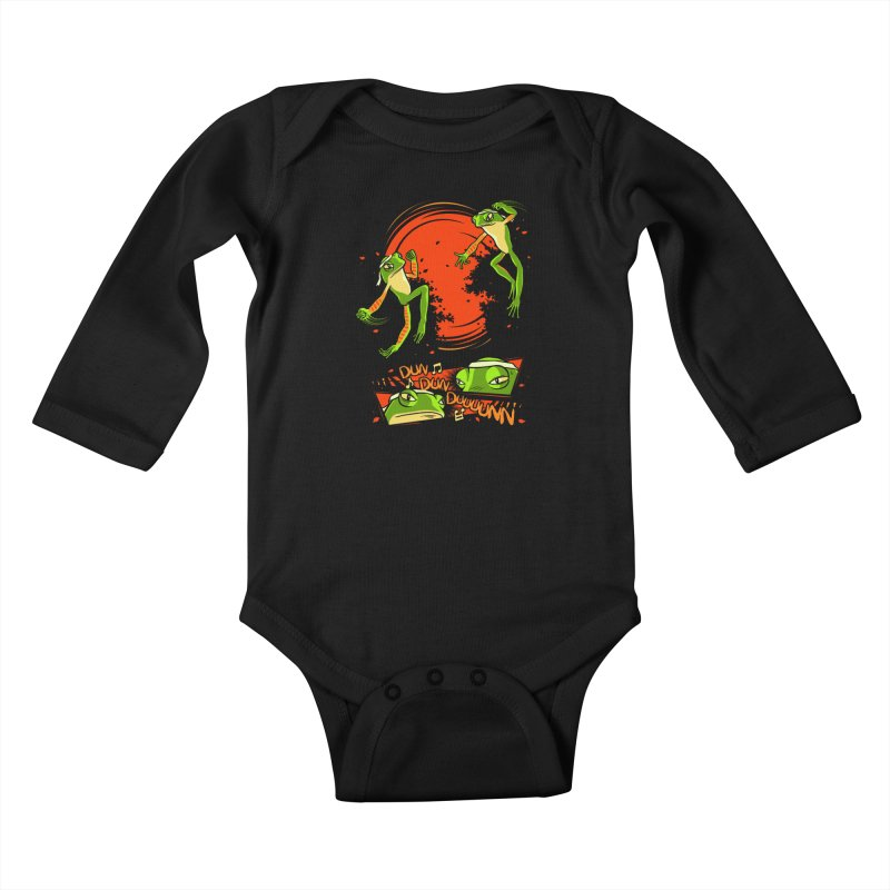 Peruvian Fighting Frogs Kids Baby Longsleeve Bodysuit by indigo's Artist Shop