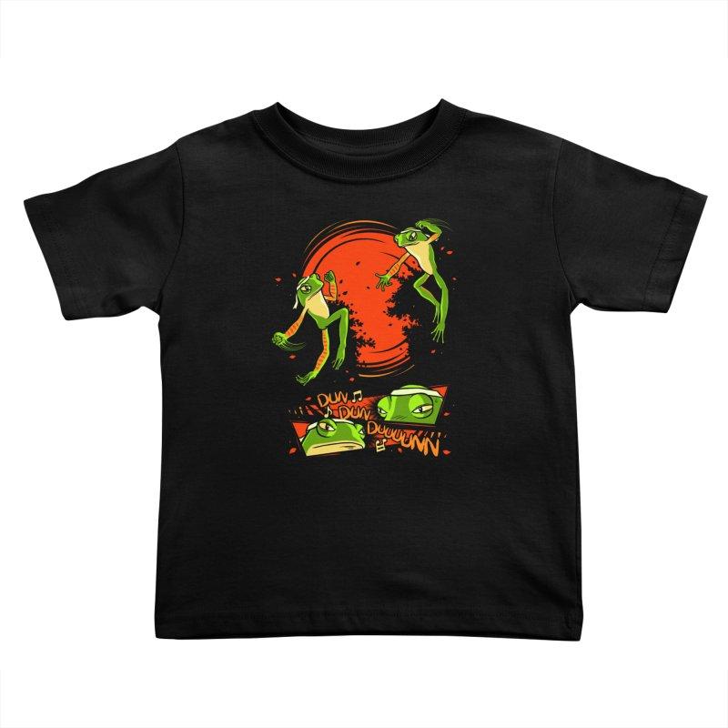 Peruvian Fighting Frogs Kids Toddler T-Shirt by indigo's Artist Shop