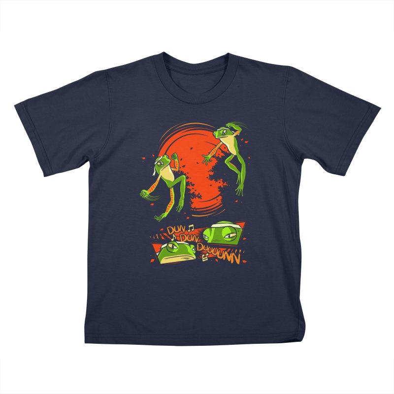 Peruvian Fighting Frogs Kids T-Shirt by indigo's Artist Shop