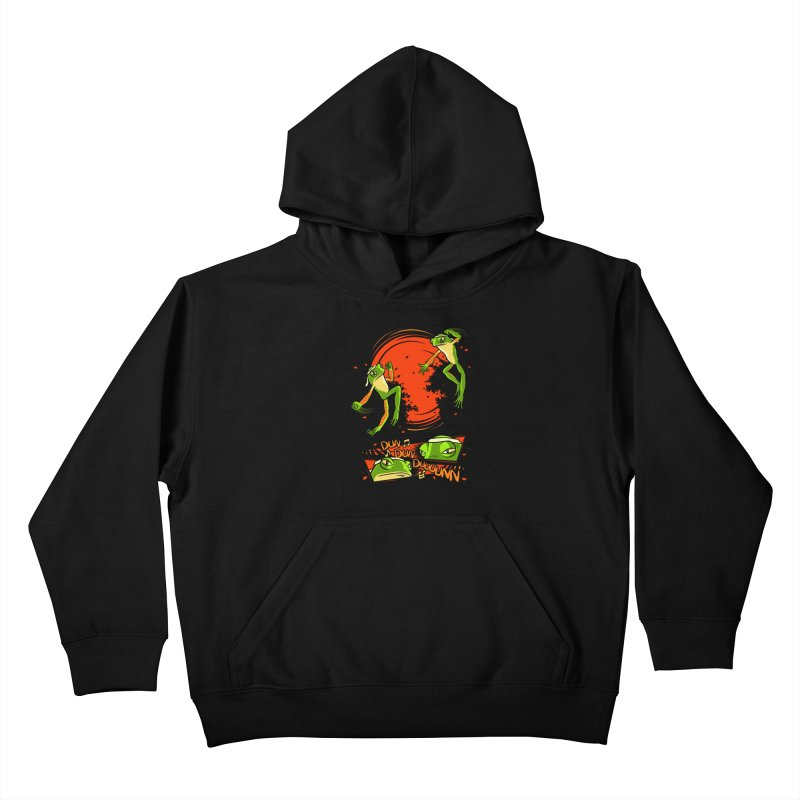 Peruvian Fighting Frogs Kids Pullover Hoody by indigo's Artist Shop