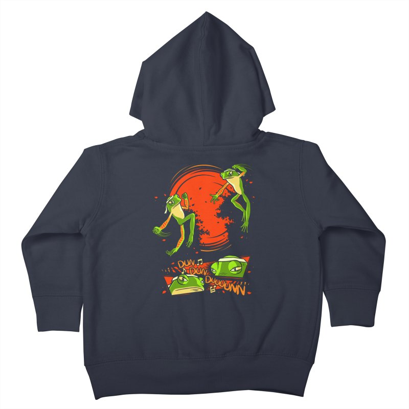 Peruvian Fighting Frogs Kids Toddler Zip-Up Hoody by indigo's Artist Shop