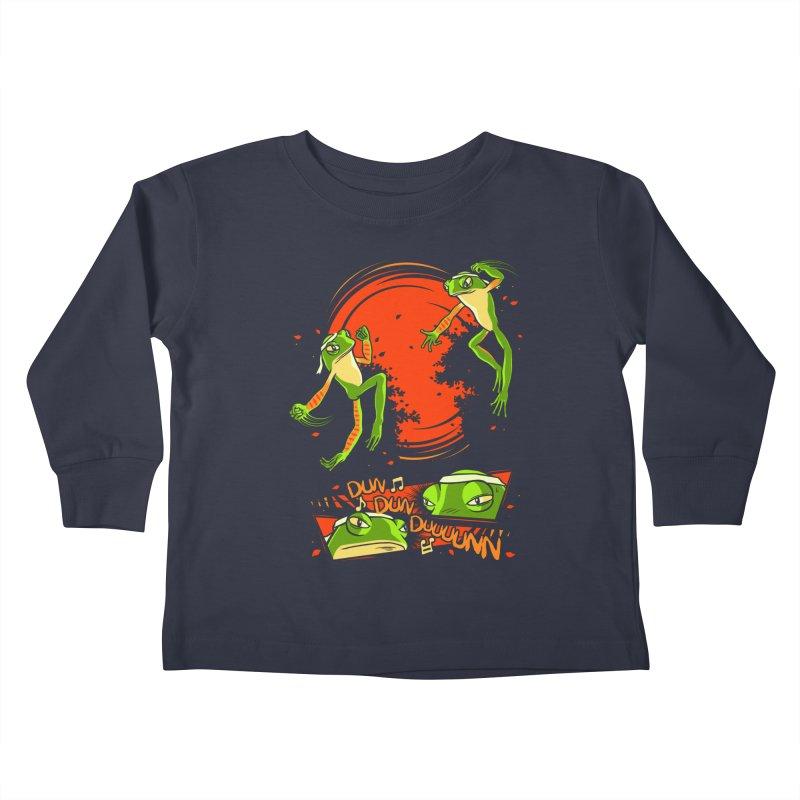 Peruvian Fighting Frogs Kids Toddler Longsleeve T-Shirt by indigo's Artist Shop