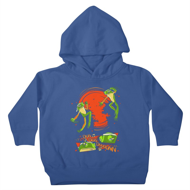 Peruvian Fighting Frogs Kids Toddler Pullover Hoody by indigo's Artist Shop