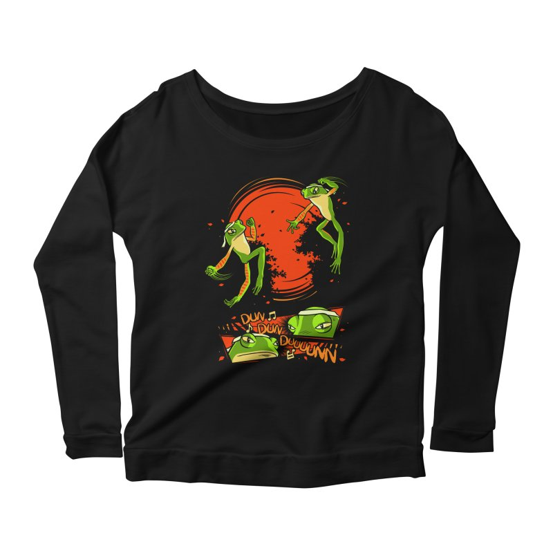 Peruvian Fighting Frogs Women's Longsleeve Scoopneck  by indigo's Artist Shop