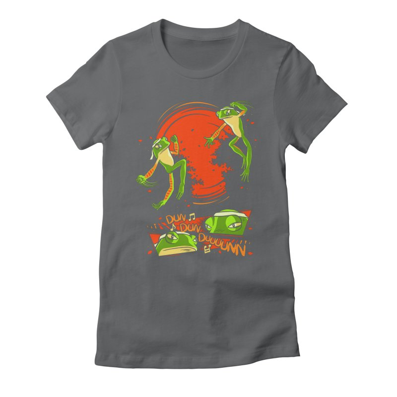 Peruvian Fighting Frogs Women's Fitted T-Shirt by indigo's Artist Shop