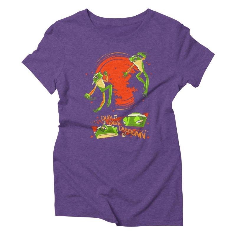 Peruvian Fighting Frogs Women's Triblend T-Shirt by indigo's Artist Shop
