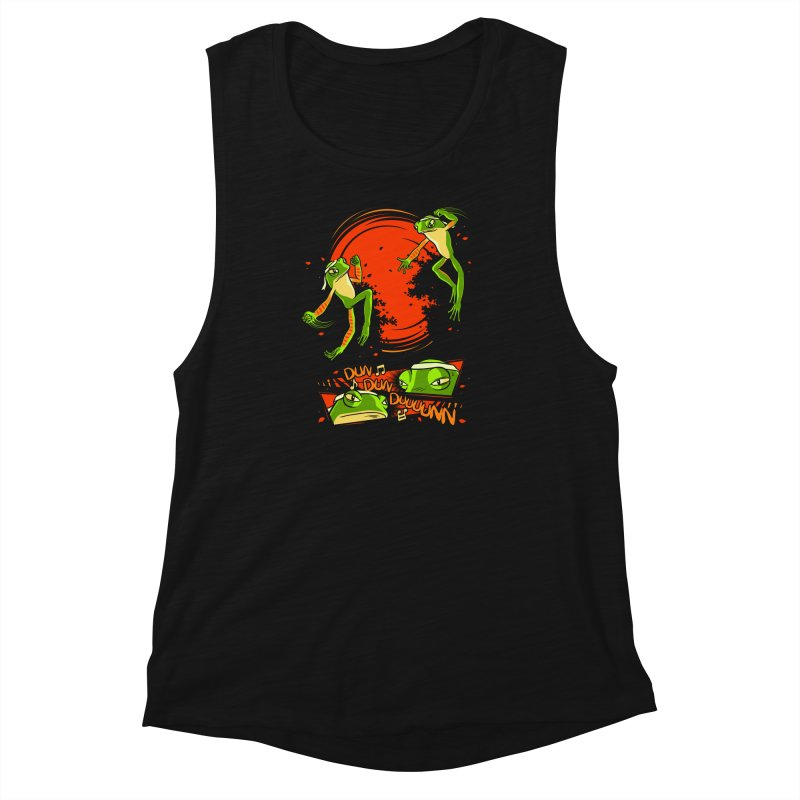 Peruvian Fighting Frogs Women's Muscle Tank by indigo's Artist Shop