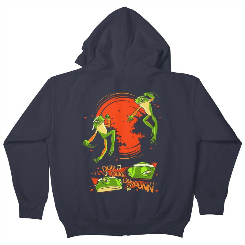 Peruvian Fighting Frogs Kids Zip-Up Hoody by indigo's Artist Shop
