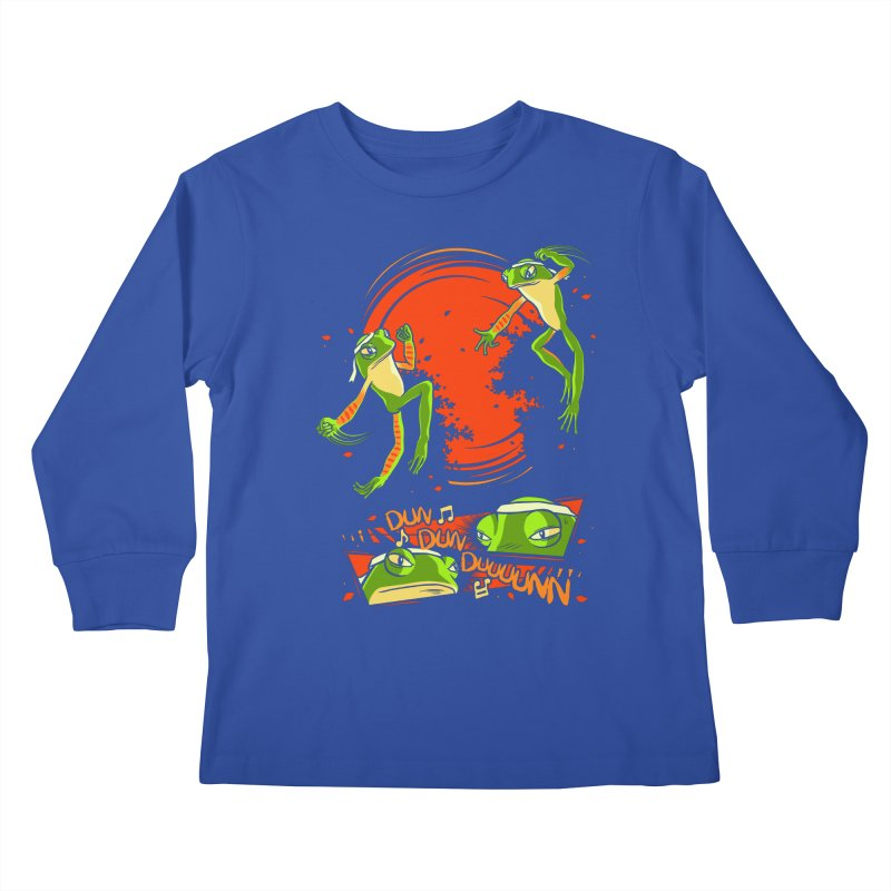 Peruvian Fighting Frogs Kids Longsleeve T-Shirt by indigo's Artist Shop