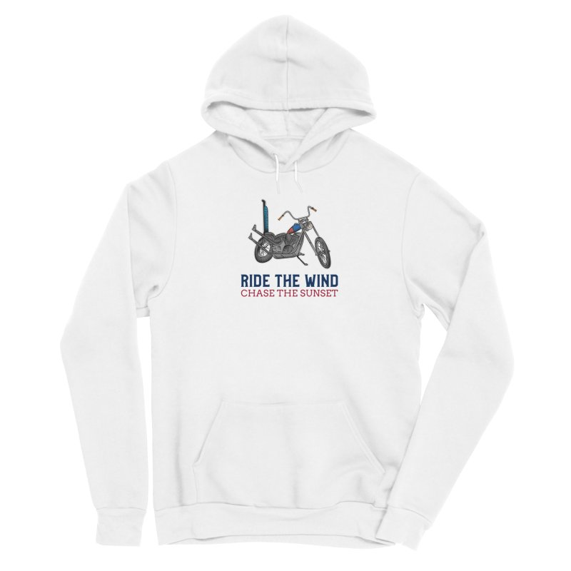 RIDE THE WIND CHASE THE SUNSET Men's Pullover Hoody by Indigoave Artist Shop