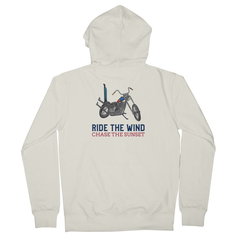 RIDE THE WIND CHASE THE SUNSET Men's Zip-Up Hoody by Indigoave Artist Shop