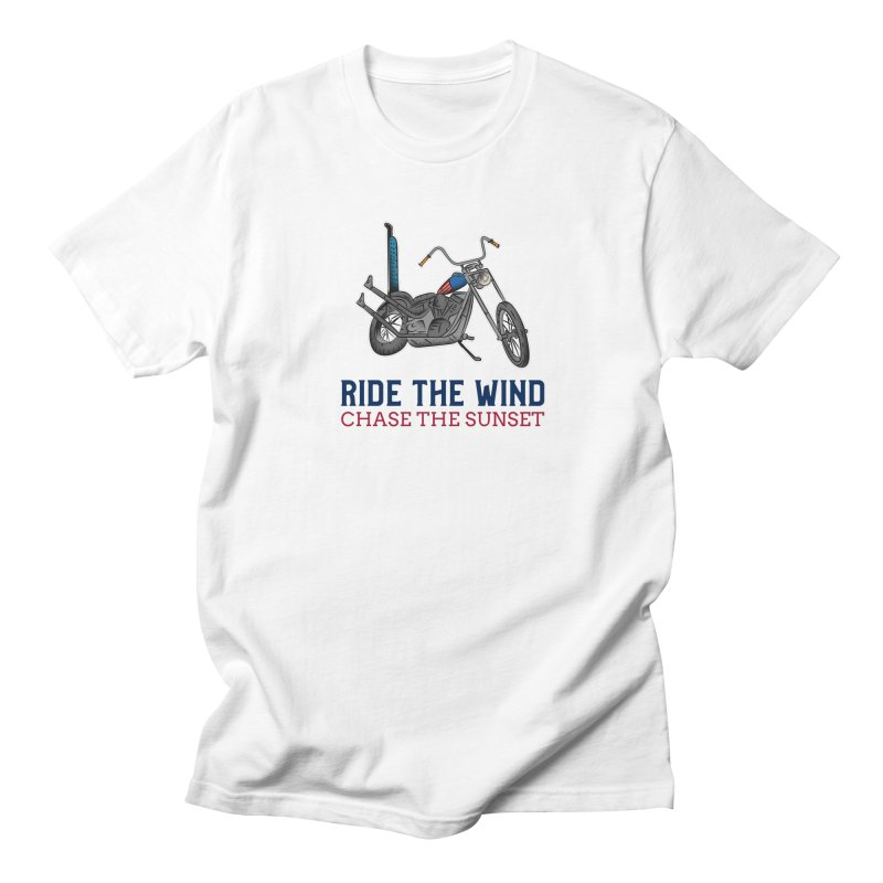 RIDE THE WIND CHASE THE SUNSET Men's T-Shirt by Indigoave Artist Shop